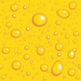 Fundo sem emenda do vetor. Gotas amarelas Fotografia de Stock