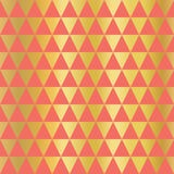 Fundo sem emenda do vetor do triângulo da folha de ouro Formas horizontais do triângulo do ouro no teste padrão coral Projeto sim ilustração do vetor
