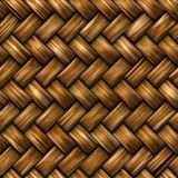 Fundo sem emenda do weave do rattan Fotos de Stock Royalty Free