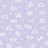 Fundo sem emenda do zodíaco do vetor Imagem de Stock Royalty Free