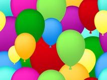 Fundo sem emenda dos balões Imagem de Stock Royalty Free
