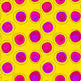 Fundo sem emenda dos confetes cor-de-rosa das flâmulas Imagens de Stock