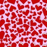 Fundo sem emenda dos corações Foto de Stock