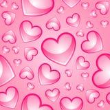Fundo sem emenda dos corações ilustração royalty free
