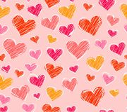 Fundo sem emenda dos corações Fotografia de Stock Royalty Free