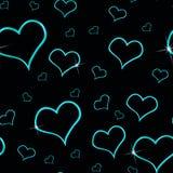 Fundo sem emenda dos corações do Aqua Imagem de Stock