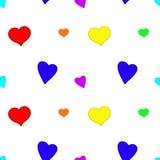 Fundo sem emenda dos corações do arco-íris Foto de Stock Royalty Free