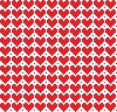 Fundo sem emenda dos corações do pixel Imagens de Stock Royalty Free