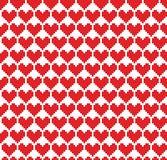 Fundo sem emenda dos corações do pixel Fotos de Stock Royalty Free
