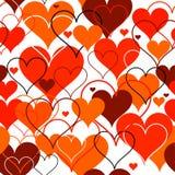 Fundo sem emenda dos corações. Vetor ilustração do vetor