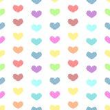 Fundo sem emenda dos corações minúsculos do às bolinhas Fotografia de Stock Royalty Free