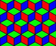Fundo sem emenda dos cubos ilustração stock