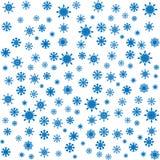 Fundo sem emenda dos flocos de neve azuis do Natal Fotos de Stock