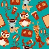 Fundo sem emenda dos modernos animais ilustração royalty free