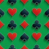 fundo sem emenda dos símbolos do cartão 3d Imagem de Stock