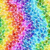 Fundo sem emenda dos triângulos brilhantes do arco-íris Imagens de Stock Royalty Free