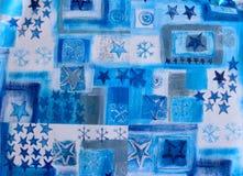 Fundo sem emenda em azul e em branco Fotos de Stock Royalty Free