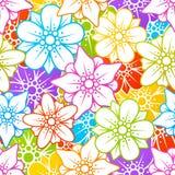 Fundo sem emenda floral Fotos de Stock Royalty Free