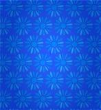 Fundo sem emenda floral da textura com teste padrão azul ornamentado das flores ilustração stock