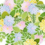 Fundo sem emenda floral elegante com as flores 3d de papel Imagem de Stock Royalty Free