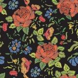 Fundo sem emenda floral Teste padrão de flor Imagem de Stock
