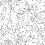 Fundo sem emenda floral Teste padrão de flor Papel de parede do Flourish Foto de Stock Royalty Free