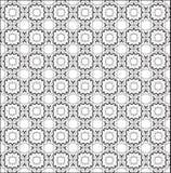 Fundo sem emenda floral Textura sem emenda geométrica floral branca e verde abstrata Fotos de Stock