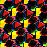 Fundo sem emenda geométrico abstrato brilhante Imagem de Stock Royalty Free