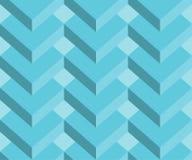 Fundo sem emenda geométrico abstrato do teste padrão 3d, fundo dos retângulos Fotos de Stock