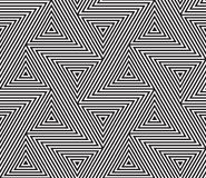 Fundo sem emenda geométrico abstrato do vetor do teste padrão ilustração stock