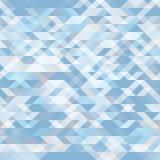 Fundo sem emenda geométrico abstrato Empalideça - o mosaico geométrico azul das formas Teste padrão futurista do polígono Imagens de Stock