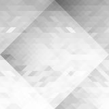 Fundo sem emenda geométrico da abstração dos triângulos do Grayscale Teste padrão cinzento do polígono Fotos de Stock Royalty Free