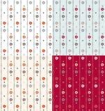 Fundo sem emenda geométrico do teste padrão do vintage com elementos florais Imagem de Stock Royalty Free