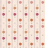 Fundo sem emenda geométrico do teste padrão do vintage com elemen florais Imagens de Stock Royalty Free