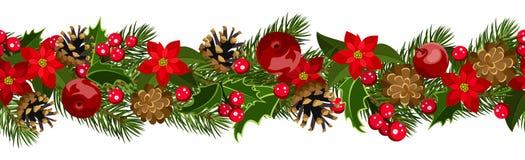 Fundo sem emenda horizontal do Natal Imagem de Stock Royalty Free