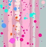 Fundo sem emenda, listras e gotas, cor-de-rosa Fotos de Stock Royalty Free