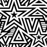 Fundo sem emenda moderno das estrelas ilustração stock
