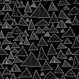 Fundo sem emenda, moderno preto e branco Imagem de Stock Royalty Free