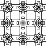 Fundo sem emenda oriental, linhas dobro do weave da combinação Foto de Stock