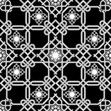 Fundo sem emenda oriental, linhas dobro do weave da combinação Imagens de Stock