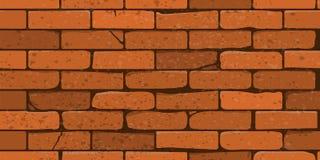 Fundo sem emenda Parede de tijolo realística Ilustração do vetor Fotografia de Stock