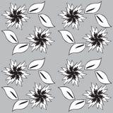 Fundo sem emenda preto e branco Imagens de Stock Royalty Free