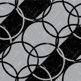 Fundo sem emenda preto e branco retro do círculo. Fotos de Stock