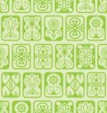 Fundo sem emenda Telhas verdes Imagens de Stock