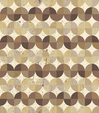 Fundo sem emenda textured vintage do parquet geométrico ondulado Fotos de Stock Royalty Free