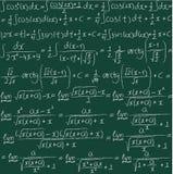 Fundo sem emenda tirado mão do vetor matemático Fotografia de Stock Royalty Free