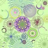 Fundo sem emenda verde com círculos Fotografia de Stock Royalty Free