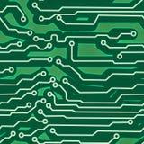 Fundo sem emenda verde da placa de circuito do computador Foto de Stock Royalty Free