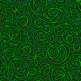 Fundo sem emenda verde floral abstrato Fotos de Stock Royalty Free