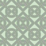 Fundo sem emenda verde geométrico com elementos cor-de-rosa Imagem de Stock